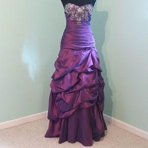 Roberta Purple Homecoming Dress